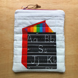 library pouch - rainbow 101