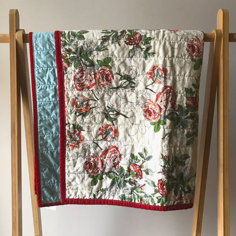 rose by numbers baby quilt