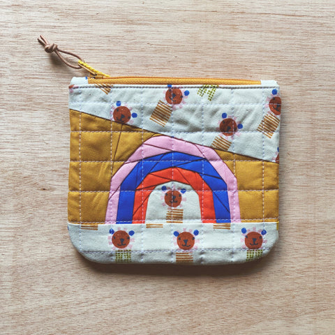 rainbow pouch - leo the lion