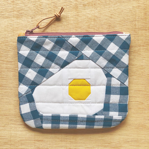 egg pouch - gingHAM + eggs