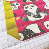 library pouch - simon the shy panda