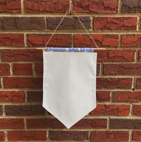 pin banner - blue chevrons