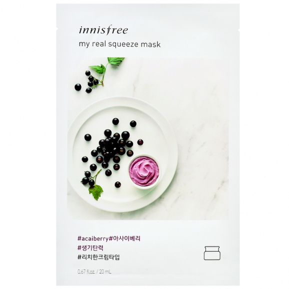 ШИЙТ МАСКА С АКАЙ БЕРИ  Innisfree  My Real Squeeze Mask EX   Acai Berry 20мл