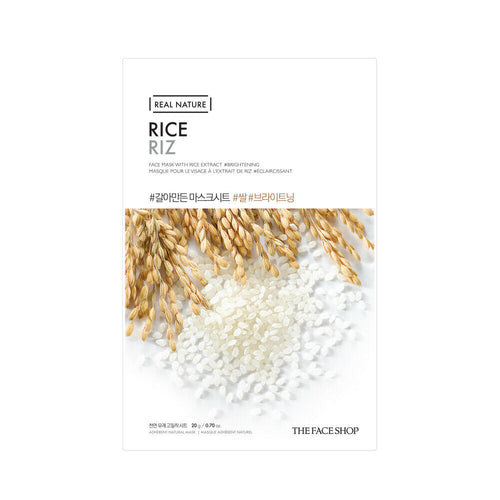 ШИЙТ МАСКА С ОРИЗ  THE FACE SHOP Real Nature Face Mask Rice 20г