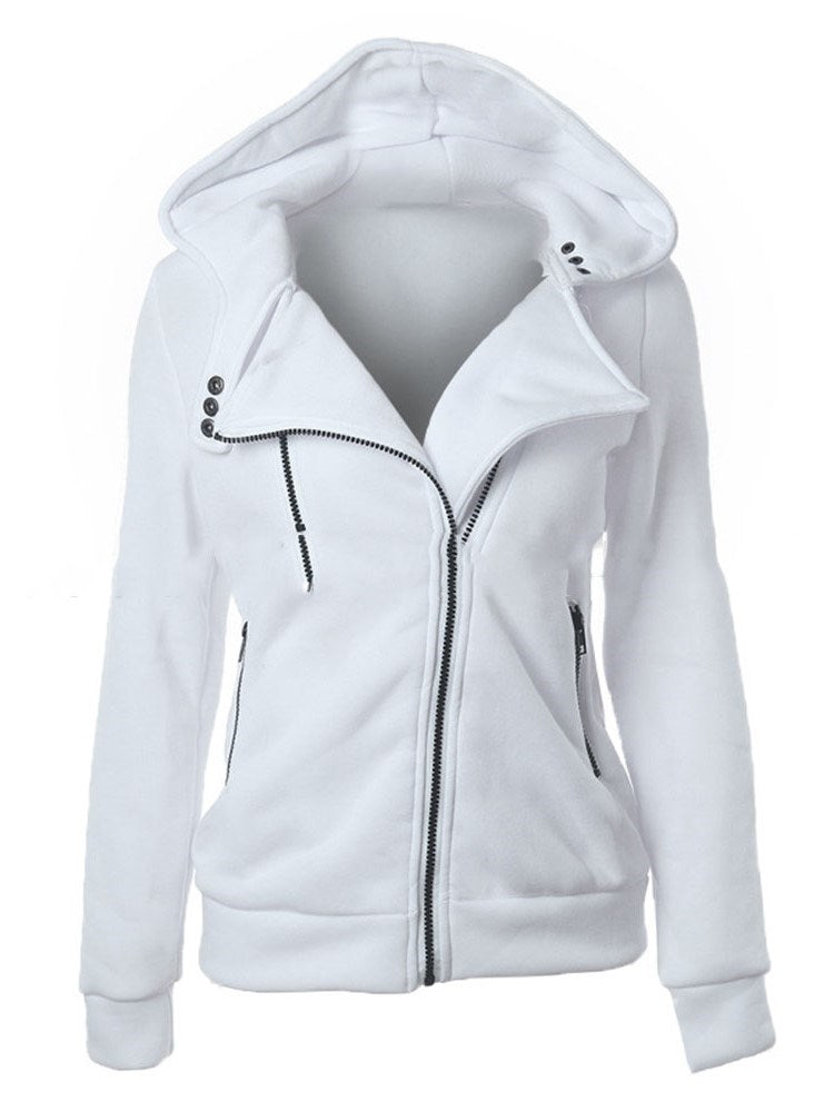 Sweat-shirt Femme Pure Zip Standard Automne Revers
