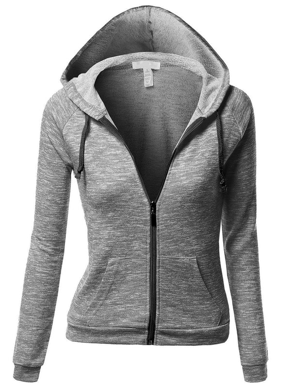 Sweat-shirt Femme Zip Standard Printemps