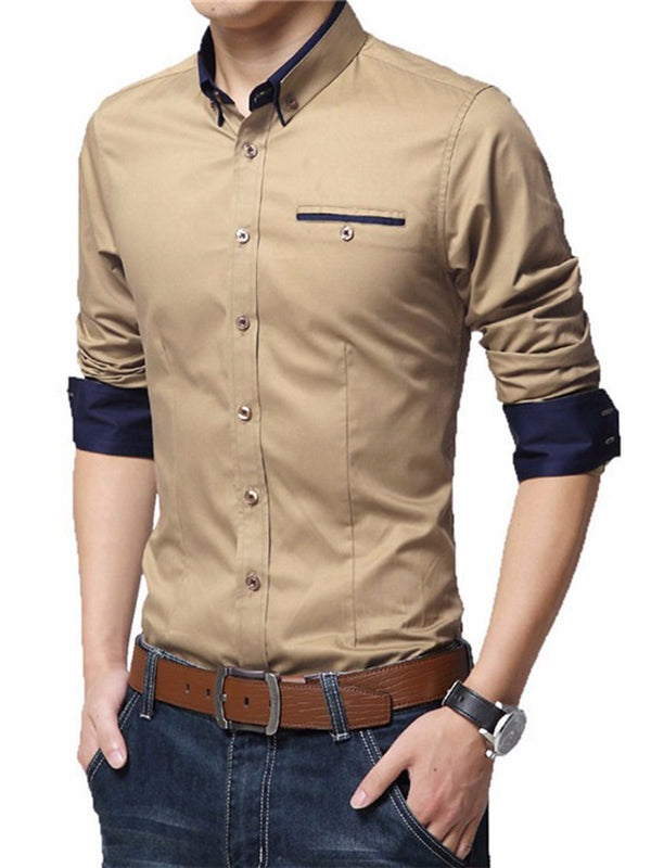 Chemise Homme Revers Pure Poche Slim