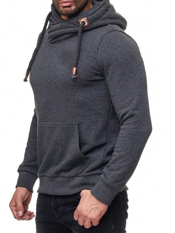 Sweat-shirt Homme Pull-Over Poche Epais Pull Hiver