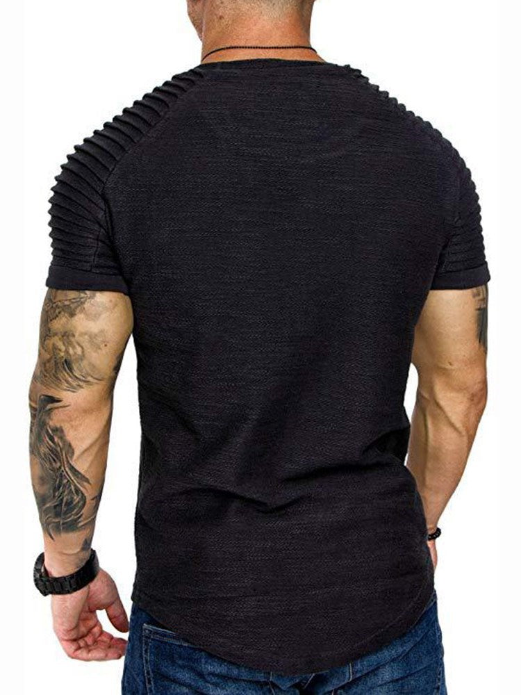 T-shirt Homme Pure Col Rond Occident Manches Courtes Slim