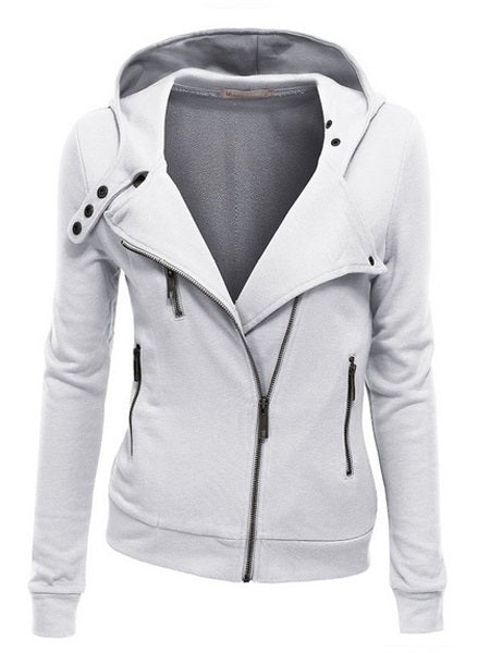 Sweat-shirt Femme Pure Zip Standard Standard Printemps