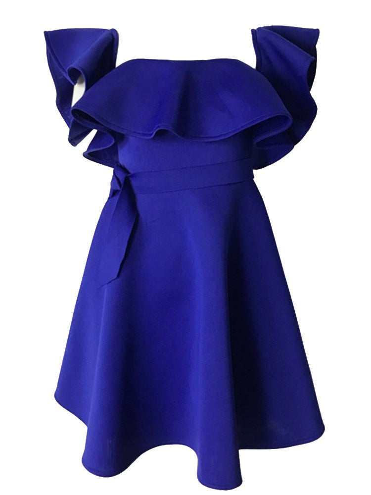 Robe Femme Encolure Bateau Manches Courtes Dos Nu Taille Standard Pure