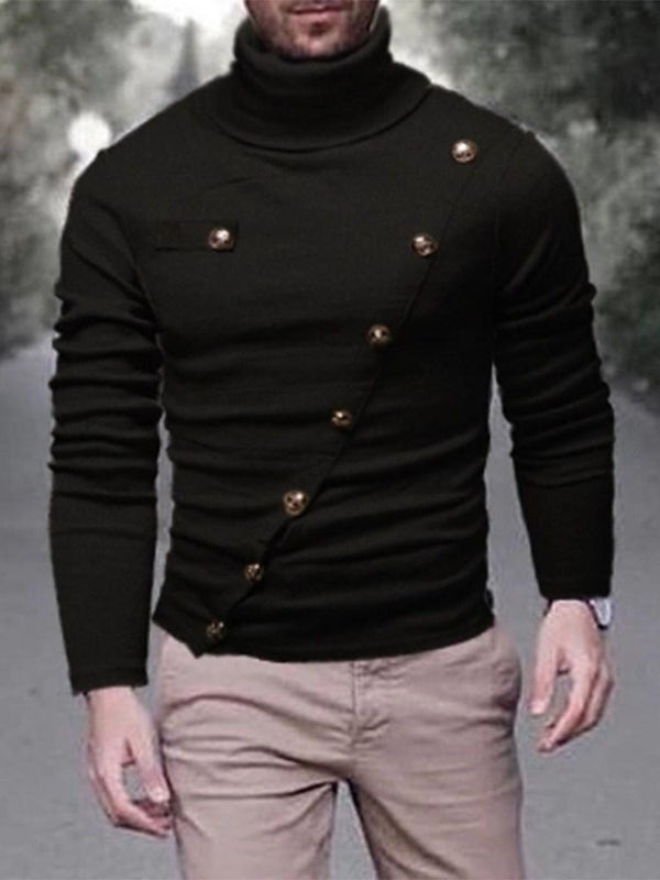 Pull Homme Standard Col Montant Pure Loisir Slim