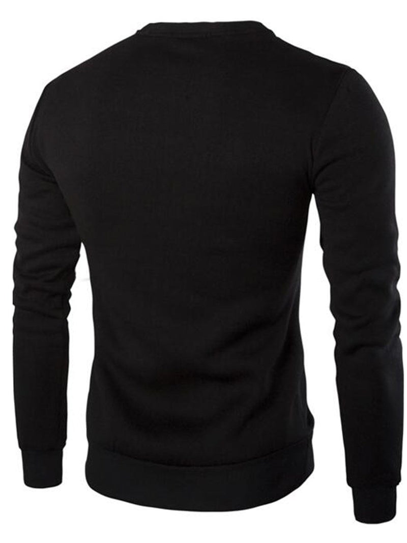 Sweat-shirt Homme épissure Pure Pull-Over Automne Pull
