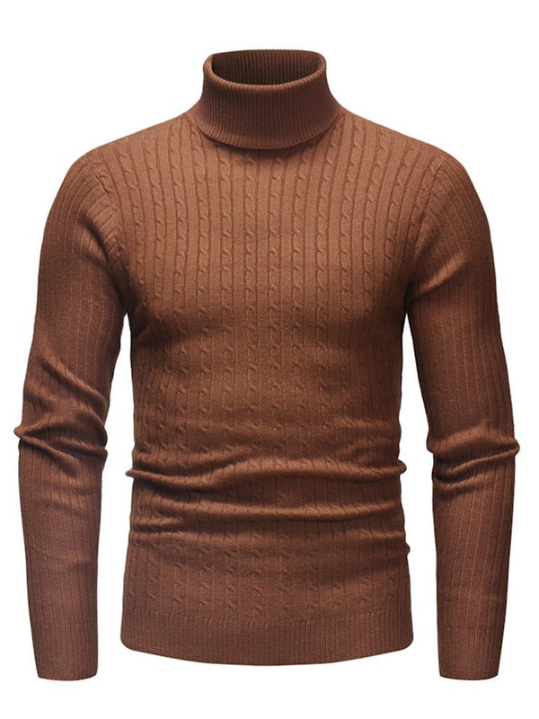 Pull Homme Pure Standard Col Montant Printemps Slim