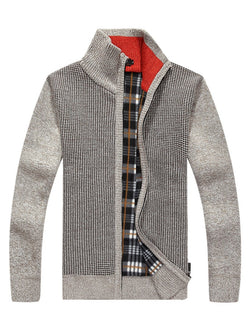 Sweat-shirt Homme Filetage Pure Cardigan Automne Zip