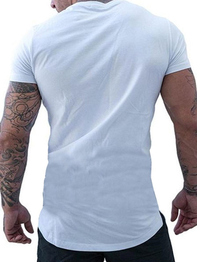 T-shirt Homme Occident Col Rond Pure Manches Courtes Slim