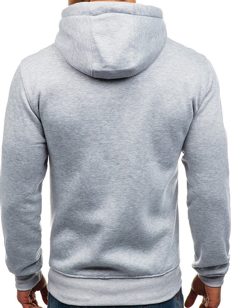 Sweat-shirt Homme Velours Pure Pull-Over Capuchon Pull