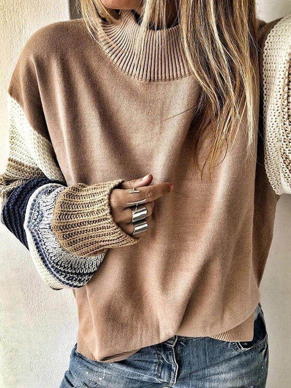 Pull Femme Standard Col Montant