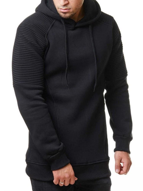 Sweat-shirt Homme Pure Velours Pli Capuchon Décontracté