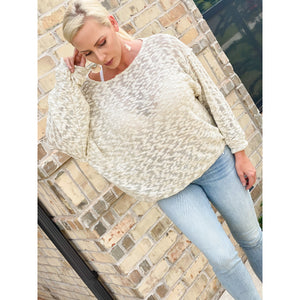 High Low Hacci Pullover - Sayre's Eden Boutique