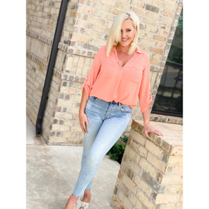 Dabby Darlin Retro Blouse - Sayre's Eden Boutique