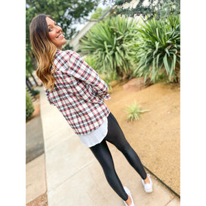 Presley Plaid Top - Sayre's Eden Boutique