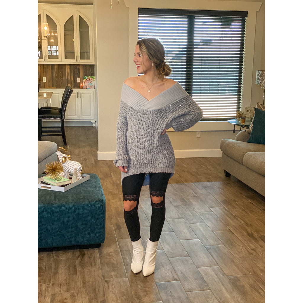 Graystone Tunic Sweater - Sayre's Eden Boutique