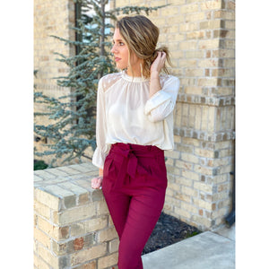 Button my Back Blouse - Sayre's Eden Boutique