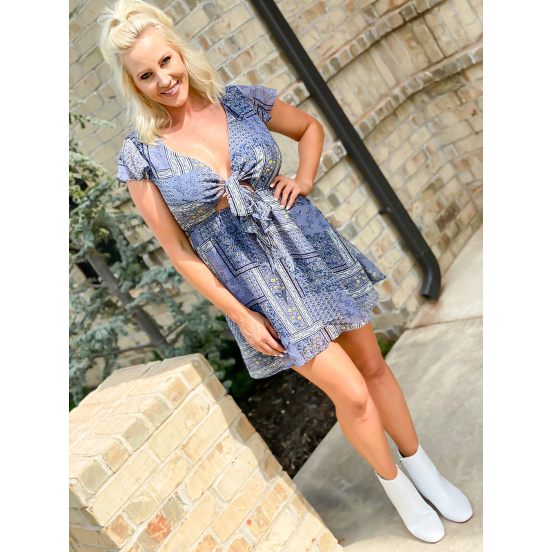 Peek a Boo Mini Dress - Sayre's Eden Boutique