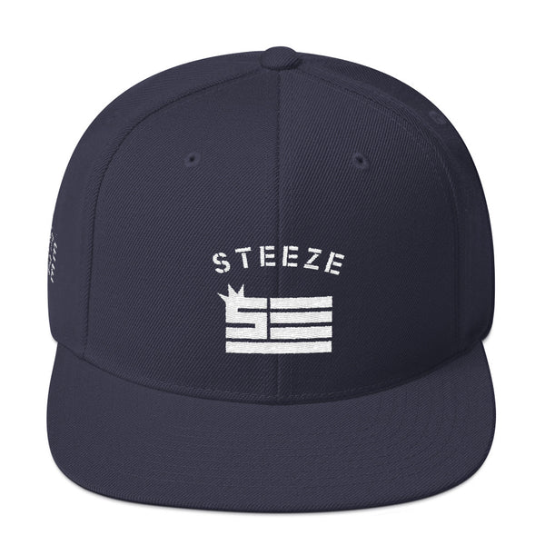 Steeze Flag Wool 5 Panel Snapback Hat