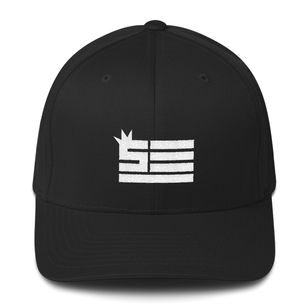 Steeze Flag (white) - Structured Twill Fitted Cap
