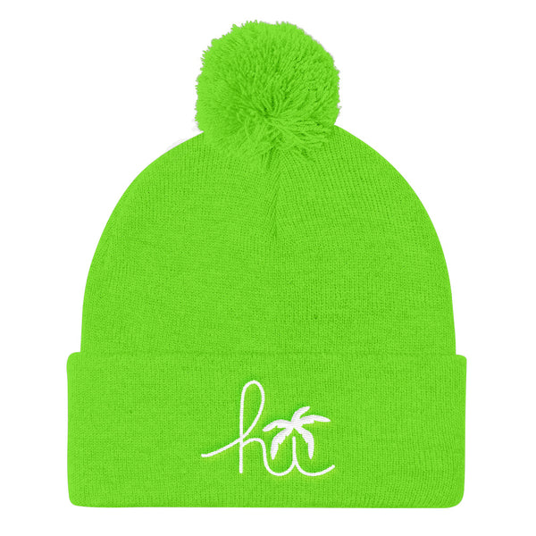 Hawaii Hi-Life Pom Pom Knit Cap