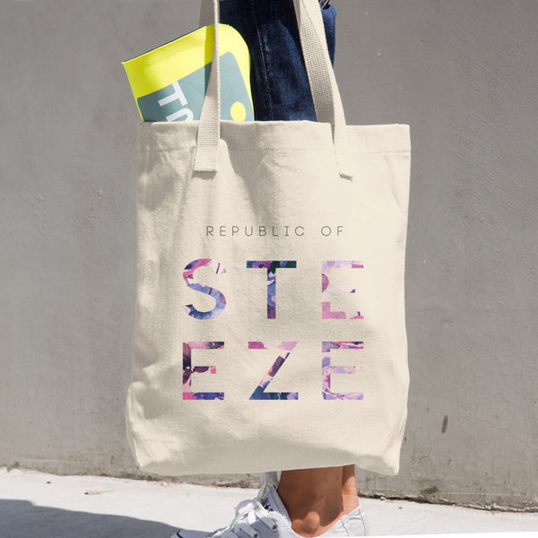 Floral Steeze Cotton Tote Bag