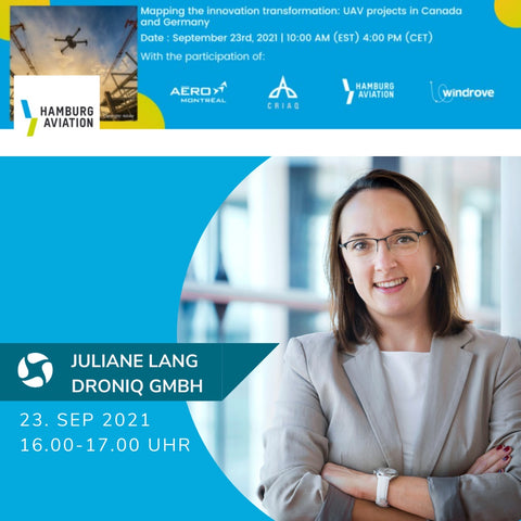 UAV projects in Canada and Germany   Vortrag Juliane Lang (Droniq)