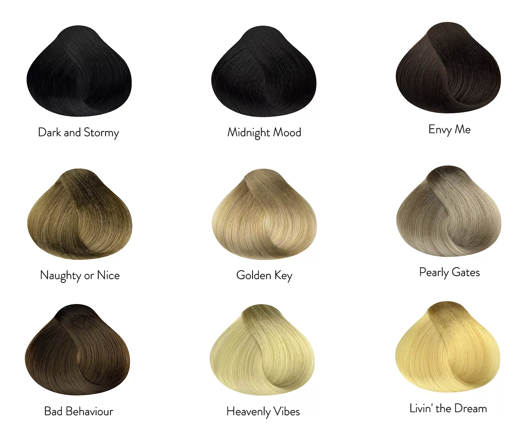 Our hair extension colors