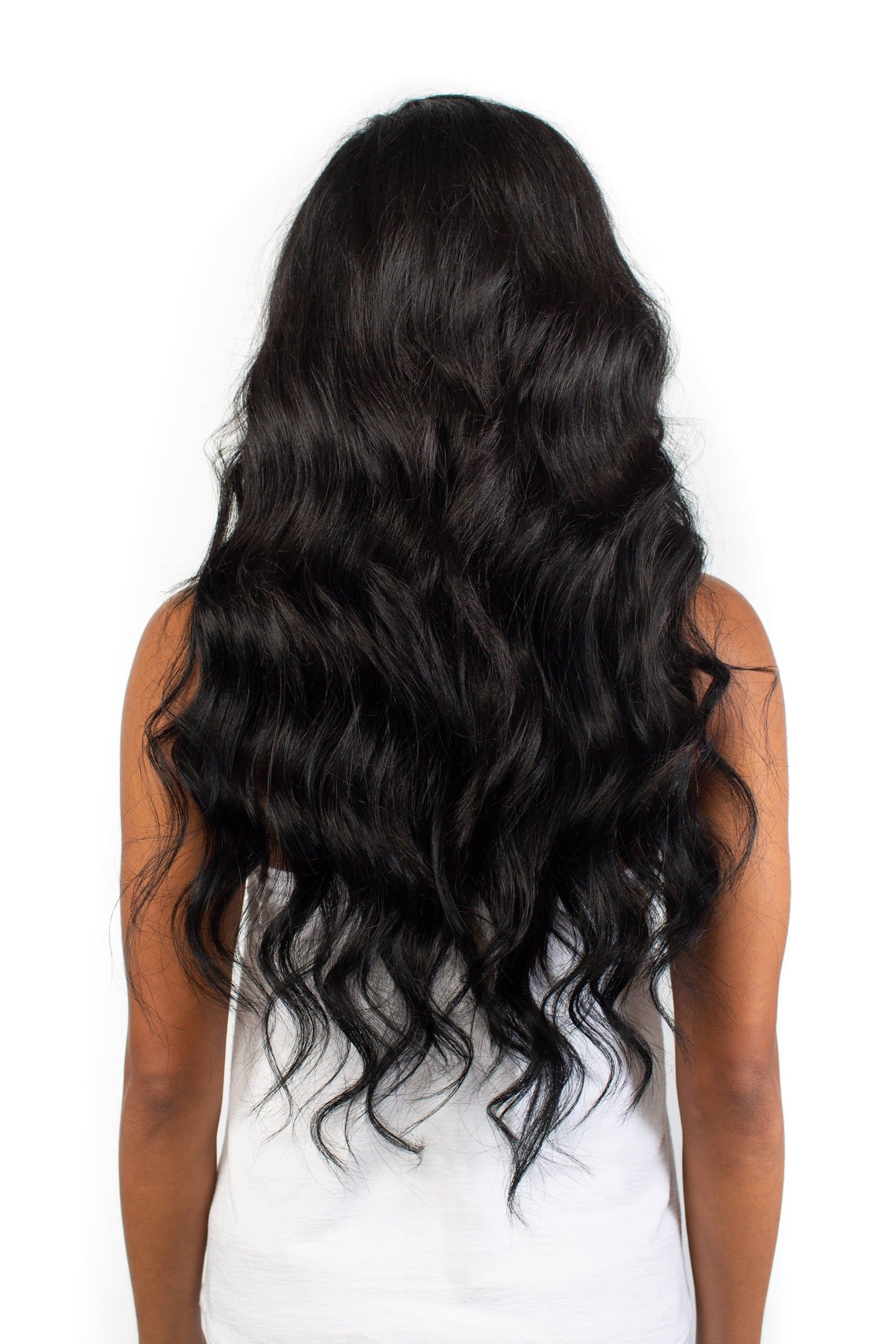 Dark Black Clip-In Hair Extensions – Dark and Stormy