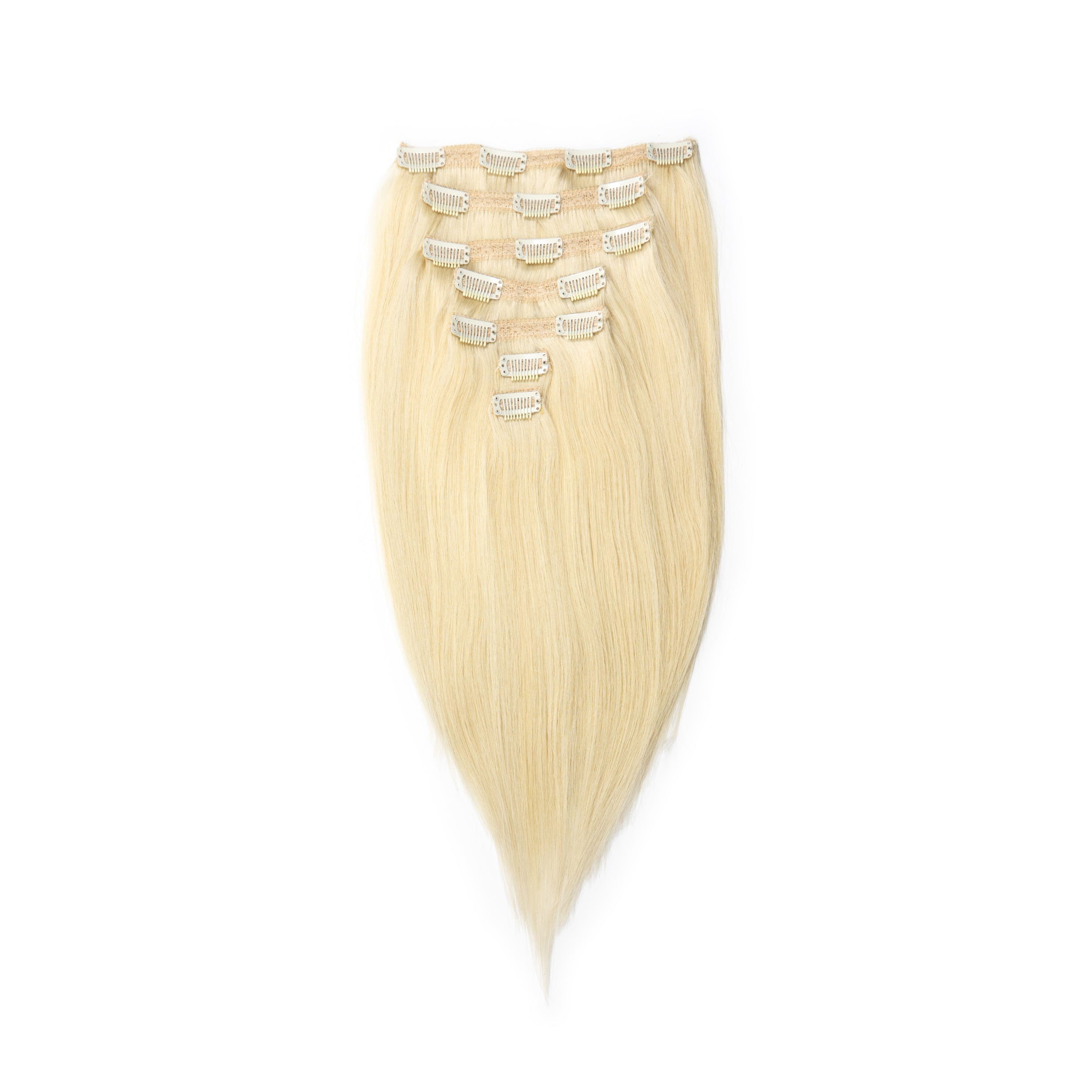 "14"" Bright Blonde Clip-In Hair Extensions"