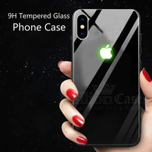 Load image into Gallery viewer, iPhone X/XS Radium Glow Light Illuminated Logo 3D Case