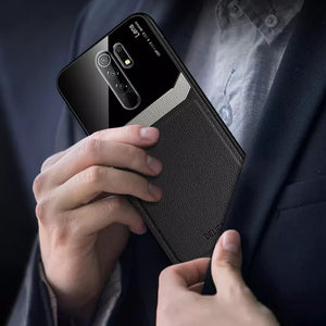 Redmi Note 8 Pro Sleek Slim Leather Glass Case
