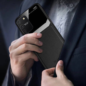 Galaxy S10 Lite Sleek Slim Leather Glass Case