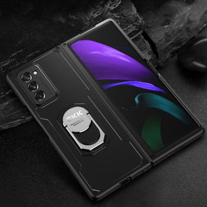 Galaxy Z Fold2 Metallic Finger Ring Holder Hard Matte Case