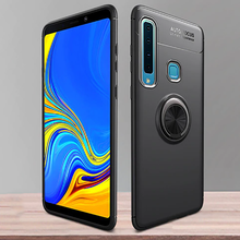 Load image into Gallery viewer, Galaxy A9 2018 Metallic Finger Ring Holder Matte Case