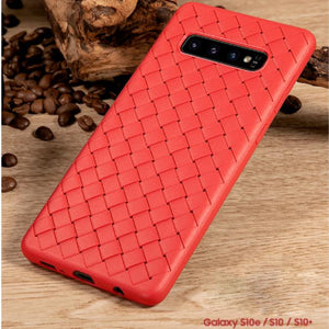 Henks ® Galaxy S10 Ultra-thin Grid Weaving Case