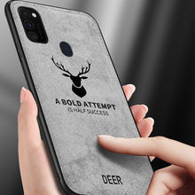 Load image into Gallery viewer, Galaxy M30s Deer Pattern Inspirational Soft Case