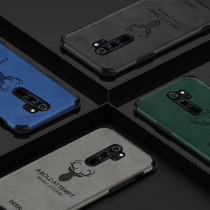 Galaxy S9 Plus Shockproof Deer Leather Texture Case