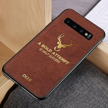 Load image into Gallery viewer, Galaxy S10 Plus Luxury Gold Textured Deer Pattern Soft Case