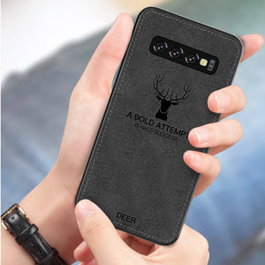 Galaxy S10 Deer Pattern Inspirational Soft Case