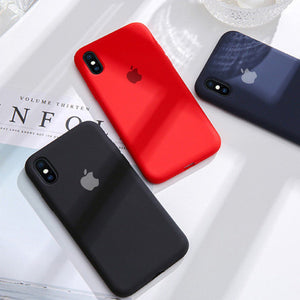 iPhone XS Max Liquid Silicone Logo Case