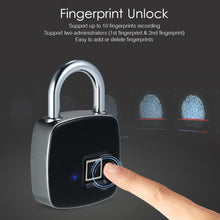 Load image into Gallery viewer, Smart Keyless Anti-theft Digital Fingerprint Padlock