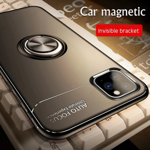 iPhone 11 Pro Max Metallic Ring Holder Matte Case